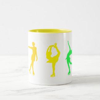 Figure Skaters Pastel Rainbow Two-Tone Mug