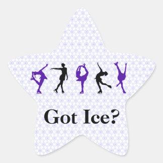 Figure Skaters - Pattern- Got Ice? - lilac Sticker