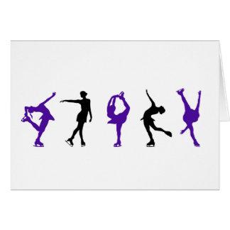 Figure Skaters - Purple & Black Card