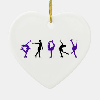 Figure Skaters - Purple & Black Christmas Ornament
