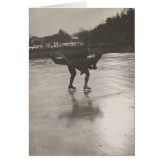 Figure Skaters Vintage Photo Greeting Card