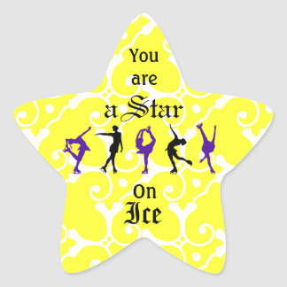 Figure Skaters - you are a Star - Yellow Star Sticker