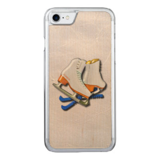 Figure Skates And Skates Guards With Your Name Carved iPhone 8/7 Case
