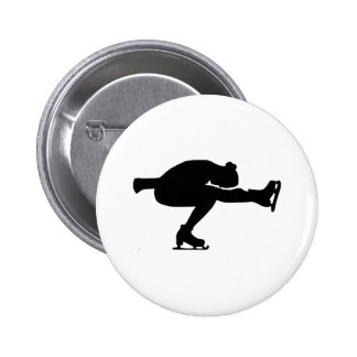 Figure Skating 6 Cm Round Badge