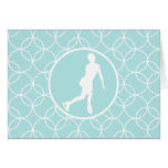 Figure Skating; Baby Blue Circles Greeting Card