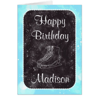 Figure Skating Birthday Card