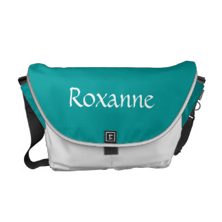 Figure Skating Blue & White  Add Name Messenger Bags