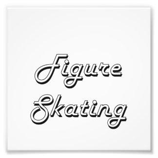 Figure Skating Classic Retro Design Art Photo
