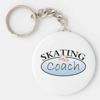 Figure Skating Coach Basic Round Button Key Ring