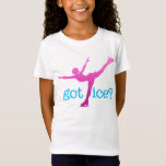 Figure Skating Coloured Text with Skater - Got Ice T-Shirt