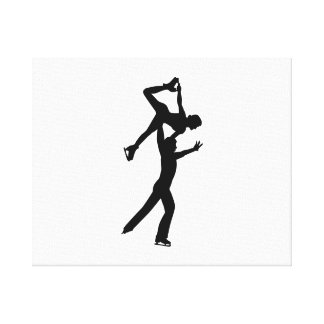 Figure skating couple gallery wrap canvas