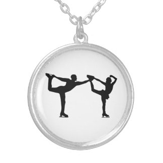 Figure skating couple custom jewelry