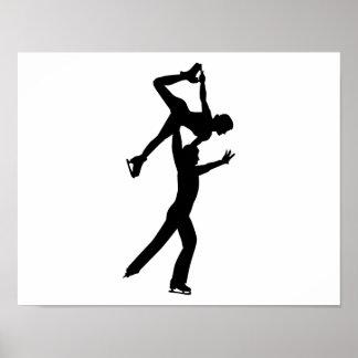 Figure skating couple print