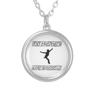 figure skating designs personalized necklace