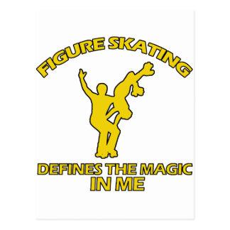 figure skating DESIGNS Postcard