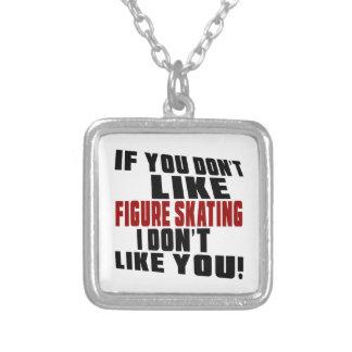 FIGURE SKATING Don't Like Square Pendant Necklace