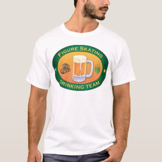 Figure Skating Drinking Team T-Shirt