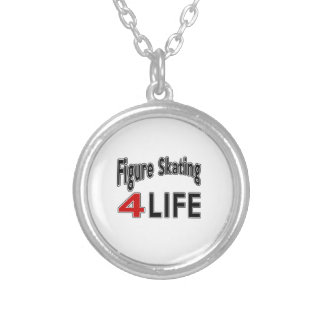 Figure Skating. For Life Round Pendant Necklace
