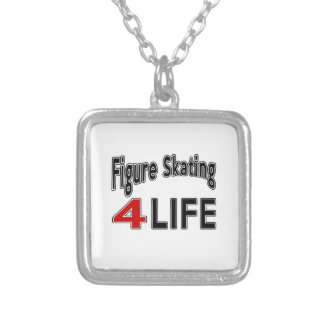 Figure Skating. For Life Square Pendant Necklace