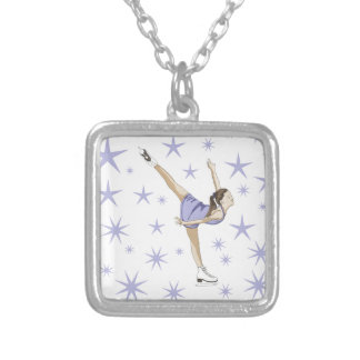 Figure Skating Giftware Silver Plated Necklace
