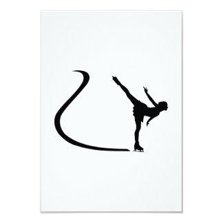 Figure skating girl custom announcement card