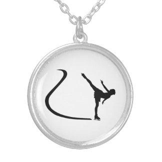 Figure skating girl necklace