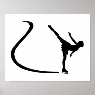 Figure skating girl poster