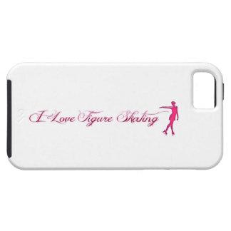Figure Skating (I Love) Pink/Purple Skater iPhone 5 Cover