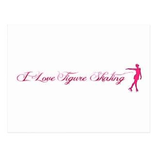 Figure Skating (I Love) Pink/Purple Skater Postcard