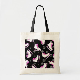 Figure Skating - Ice Skates Black and Pink Budget Tote Bag