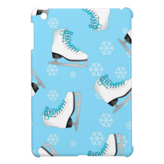 Figure Skating - Ice Skates Blue with Snowflakes iPad Mini Covers