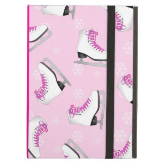 Figure Skating - Ice Skates Pink with Snowflakes Cover For iPad Air