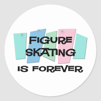 Figure Skating Is Forever Round Stickers