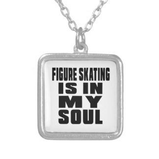 FIGURE SKATING IS IN MY SOUL SQUARE PENDANT NECKLACE