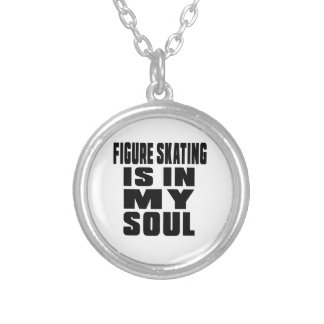 FIGURE SKATING IS IN MY SOUL ROUND PENDANT NECKLACE