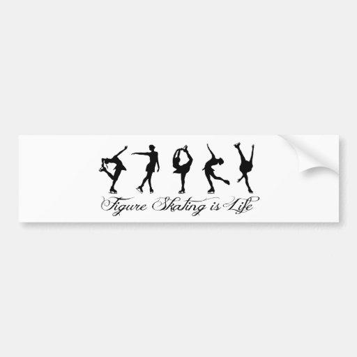 Figure Skating is Life - Script & Skaters Bumper Sticker