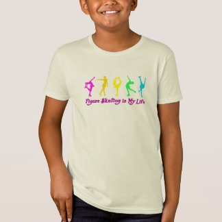 Figure Skating is My Life - Colorful Skaters T-Shirt