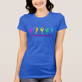 Figure Skating is My Life - Colorful Skaters Tee Shirt