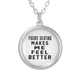 Figure Skating Makes Me Feel Better Necklaces