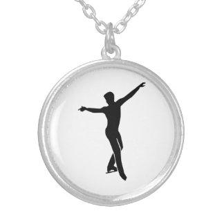 Figure skating man necklace