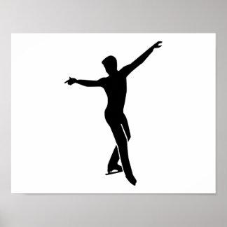Figure skating man poster