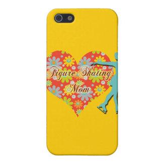 Figure Skating Mom - Flowers/Heart/Skater iPhone 5/5S Case