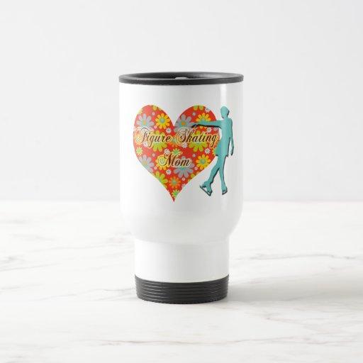 Figure Skating Mom - Flowers/Heart/Skater Coffee Mug