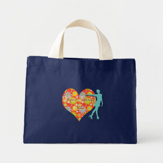Figure Skating Mom - Flowers/Heart/Skater Tote Bags