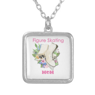 Figure Skating Mom Gift Best Pink Square Pendant Necklace