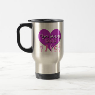 Figure Skating MOM Travel Mug Silver