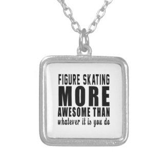 Figure Skating more awesome than whatever it is yo Personalized Necklace