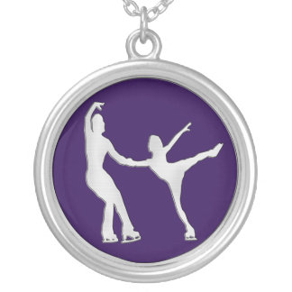 Figure Skating Pair Personalized Necklace