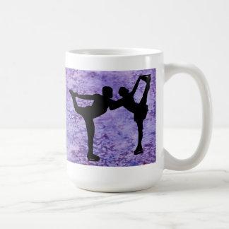 Figure Skating Pair on Purple Mugs