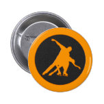 Figure Skating Pair Pinback Buttons